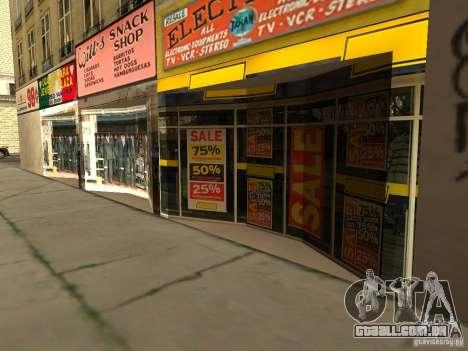 Novo centro de texturas Los Santos para GTA San Andreas terceira tela
