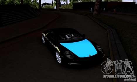 Porsche 911 Carrera S para GTA San Andreas vista traseira
