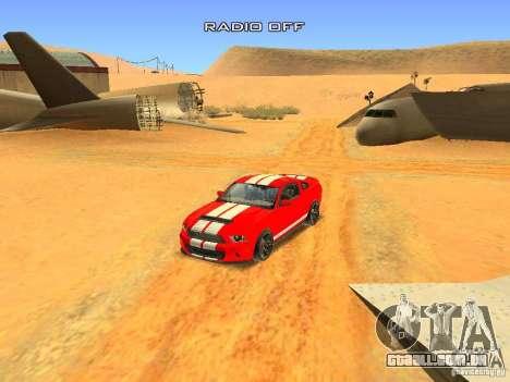 Ford Shelby GT500 para GTA San Andreas vista inferior