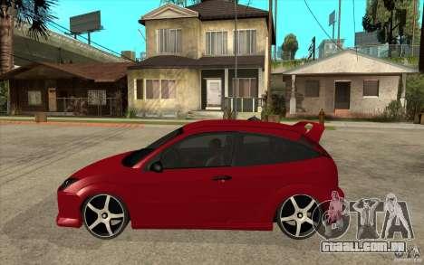 Ford Focus Coupe Tuning para GTA San Andreas esquerda vista