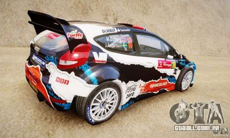 Ford Fiesta RS WRC para GTA 4 esquerda vista