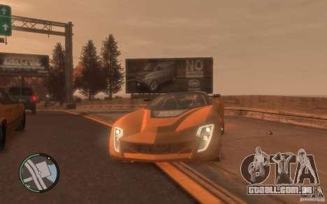 Bertone Mantide para GTA 4 traseira esquerda vista