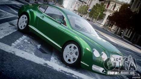 Bentley Continental GT para GTA 4 esquerda vista