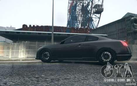 Infiniti G37 Coupe Carbon Edition v1.0 para GTA 4 traseira esquerda vista