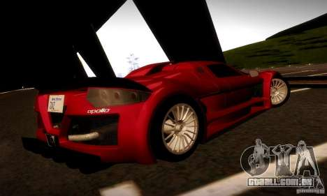 Gumpert Apollo para GTA San Andreas vista direita