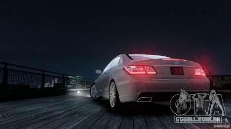 Mercedes Benz E500 Coupe para GTA 4 vista superior