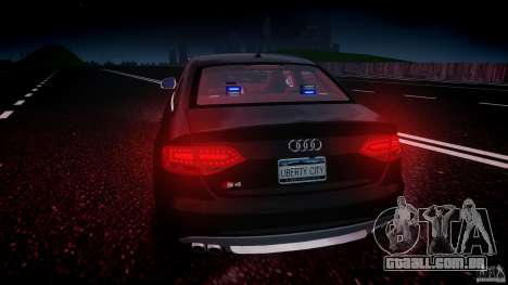 Audi S4 Unmarked [ELS] para GTA 4 motor