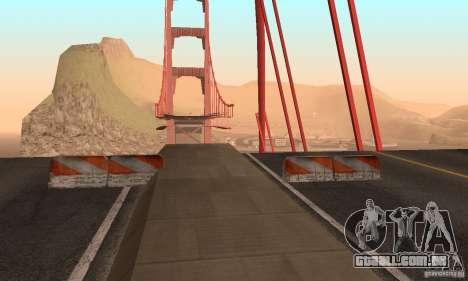 Ponte destruída em San Fierro para GTA San Andreas