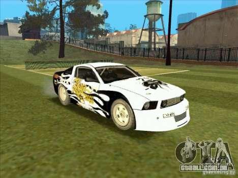 Ford Mustang Drag King from NFS Pro Street para GTA San Andreas vista traseira
