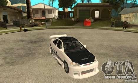 Honda Civic Tuning Tunable para vista lateral GTA San Andreas