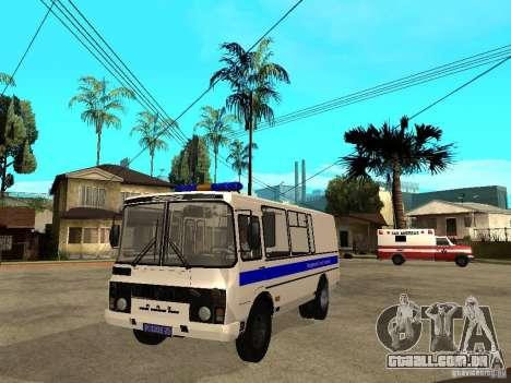 Polícia de PAZ 3205 para GTA San Andreas