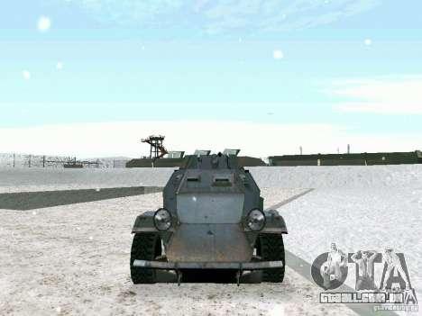Transporte de pessoal blindados do jogo atrás da para GTA San Andreas vista interior