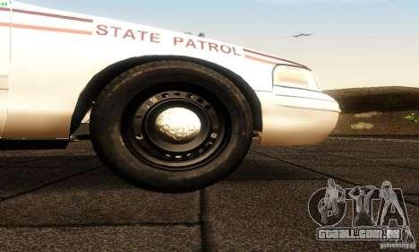 Ford Crown Victoria North Dakota Police para GTA San Andreas vista direita