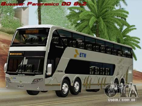 Busscar Panoramico DD 8x2 para GTA San Andreas