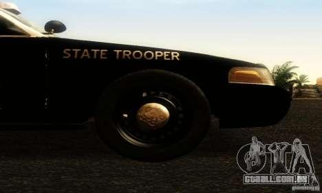 Ford Crown Victoria Texas Police para GTA San Andreas vista direita