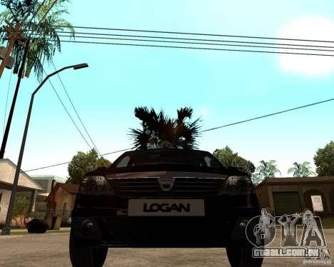 Dacia Logan 2008 para GTA San Andreas vista traseira