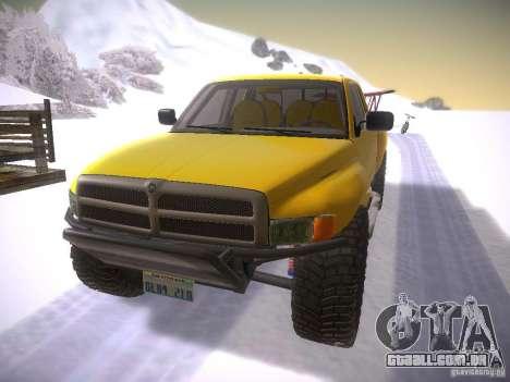 Dodge Ram Prerunner para GTA San Andreas esquerda vista