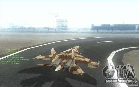 O Su-37 Terminator para GTA San Andreas vista direita
