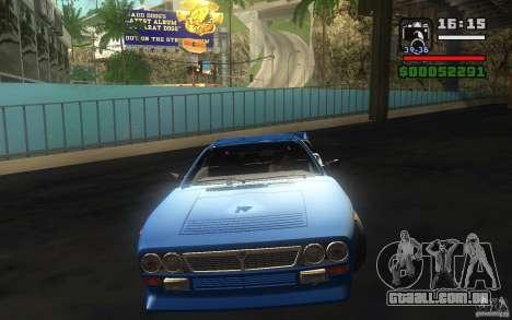 Lancia 037 Stradale para GTA San Andreas vista traseira
