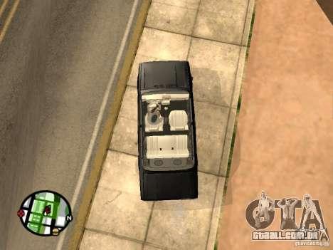 2105 Vaz show v 1.3 para GTA San Andreas vista direita