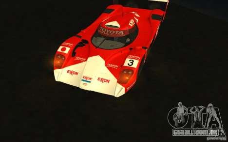 Toyota GT-One TS020 para GTA San Andreas vista traseira