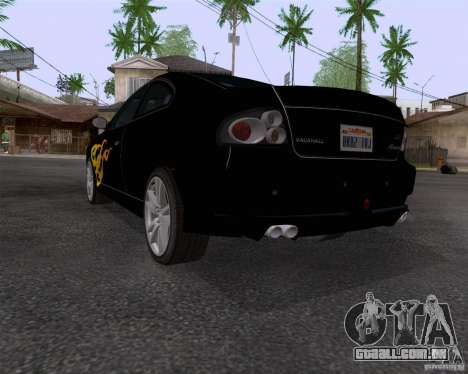 Vauxhall Monaco VX-R para GTA San Andreas vista traseira