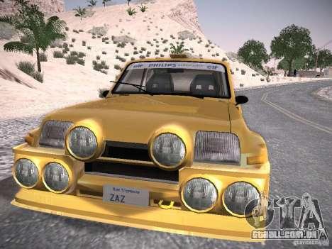 Renault 5 Turbo para GTA San Andreas traseira esquerda vista