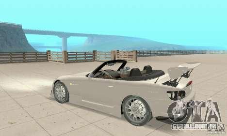 Honda S2000 Cabrio West Tuning para GTA San Andreas vista traseira