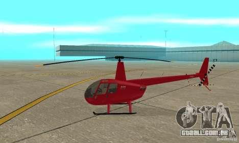 Robinson R44 Raven II NC 1.0 pele 1 para GTA San Andreas traseira esquerda vista