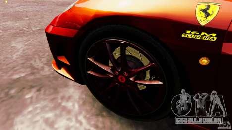 Ferrari 430 Spyder v1.5 para GTA 4 vista de volta