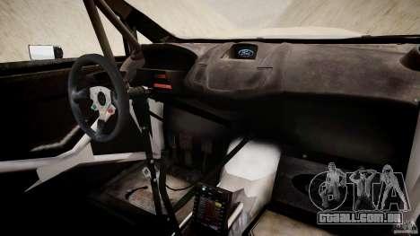 Ford Fiesta RS WRC para GTA 4 vista de volta