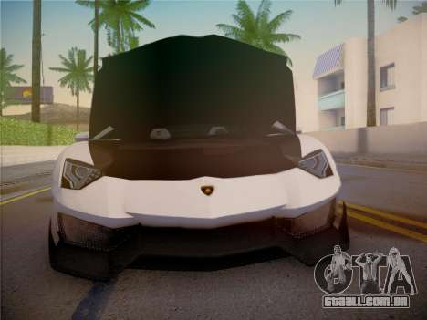 Lamborghini Aventador LP700-4 Roadstar para GTA San Andreas vista superior