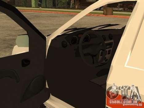 Dacia Logan Ambulanta para GTA San Andreas vista superior