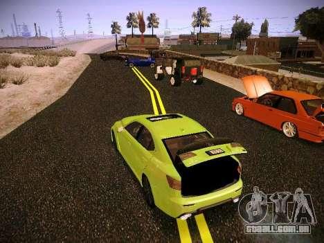 Lexus I SF para GTA San Andreas vista traseira