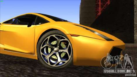 Lamborghini Gallardo SE para GTA San Andreas vista inferior