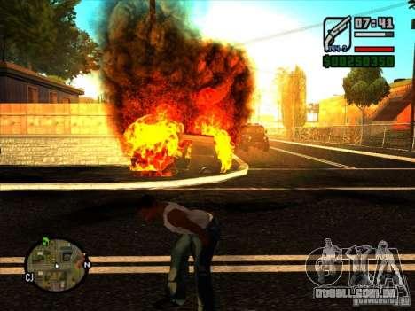 Lixo da explosão para GTA San Andreas por diante tela