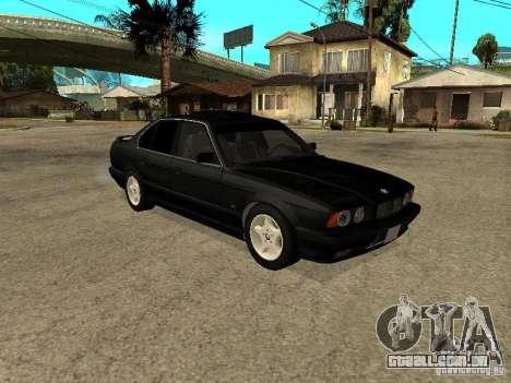 BMW e34 525 para GTA San Andreas vista direita