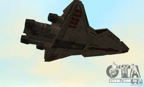 Republic Attack Cruiser Venator class v3 para GTA San Andreas vista traseira