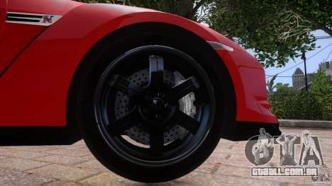Nissan GTR R35 v1.0 para GTA 4 vista lateral