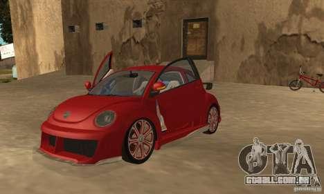 Volkswagen Bettle Tuning para GTA San Andreas esquerda vista