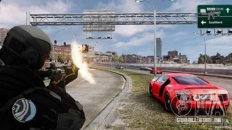 Crysis 2 NanoSuit v4.0 para GTA 4 terceira tela