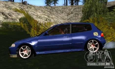 Honda Civic EG5 para GTA San Andreas esquerda vista