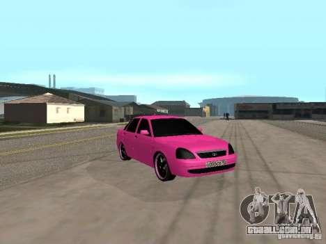 Lada Priora Emo para GTA San Andreas vista direita
