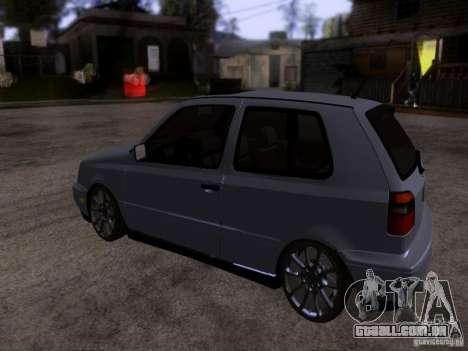 Volkswagen Golf 3 VR6 para GTA San Andreas traseira esquerda vista