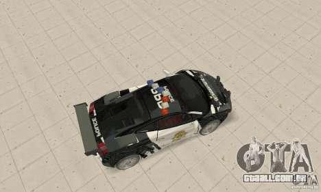 Lamborghini Gallardo Cop V1.0 para GTA San Andreas traseira esquerda vista