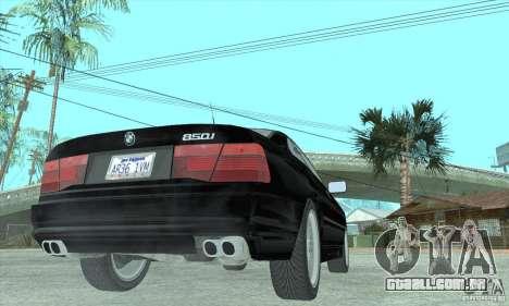 BMW 850i para GTA San Andreas esquerda vista