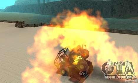 Jeep Willys Rock Crawler para GTA San Andreas traseira esquerda vista