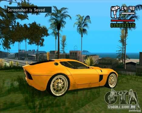 Shelby GR-1 para GTA San Andreas vista direita