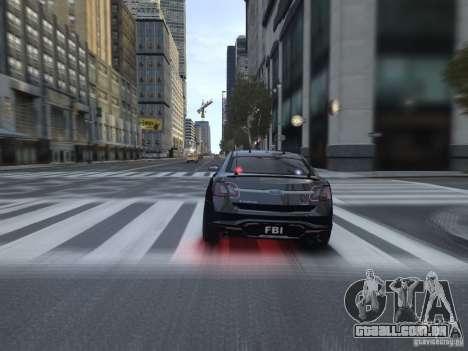 Ford Taurus FBI 2012 para GTA 4 vista direita