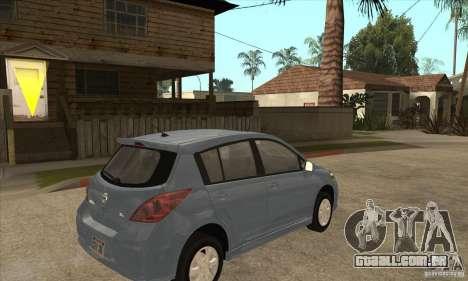 Nissan Tiida para GTA San Andreas vista direita